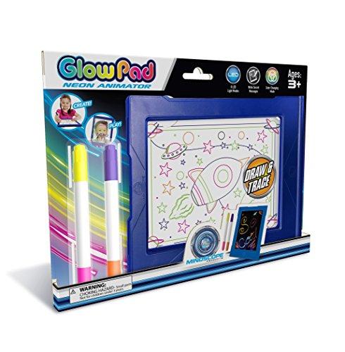 (Mindscope Light Up LED Glow PAD Blue Animator with Glow Markers)