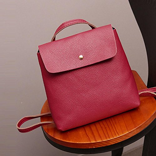Bags School Purse Rucksack Inkach Watermelon Leather Bag Backpack Womens Fashion Red Travel Satchel fxwfZaq