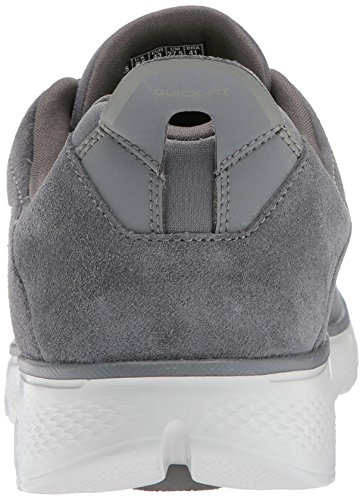 Skechers Men Go Walk 4 Running Shoes, Black (black) Grey (carboncino)