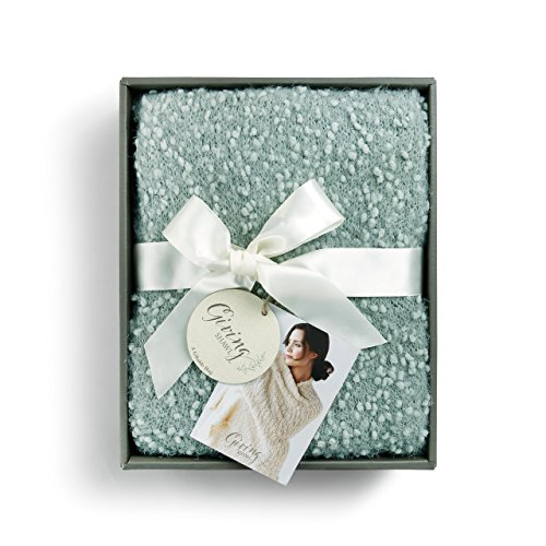 (Sage Green Women's One Size Soft Knit Nylon Giving Shawl Wrap in Gift Box)