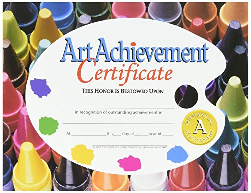 Hayes Art Achievement Certificate Style A, 8-1/2 x 11 Inches, Pack of 30