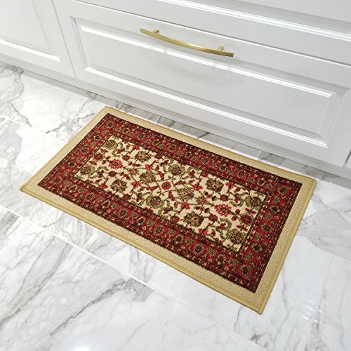 Ivory Door Mat - Maxy Home Hamam Traditional Red 18