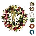 Baigio-Woman-Flower-Wreath-Handmade-Artificial-Floral-Silk-Wreath-for-Front-Door-Home-Wall-Wedding-Decoration