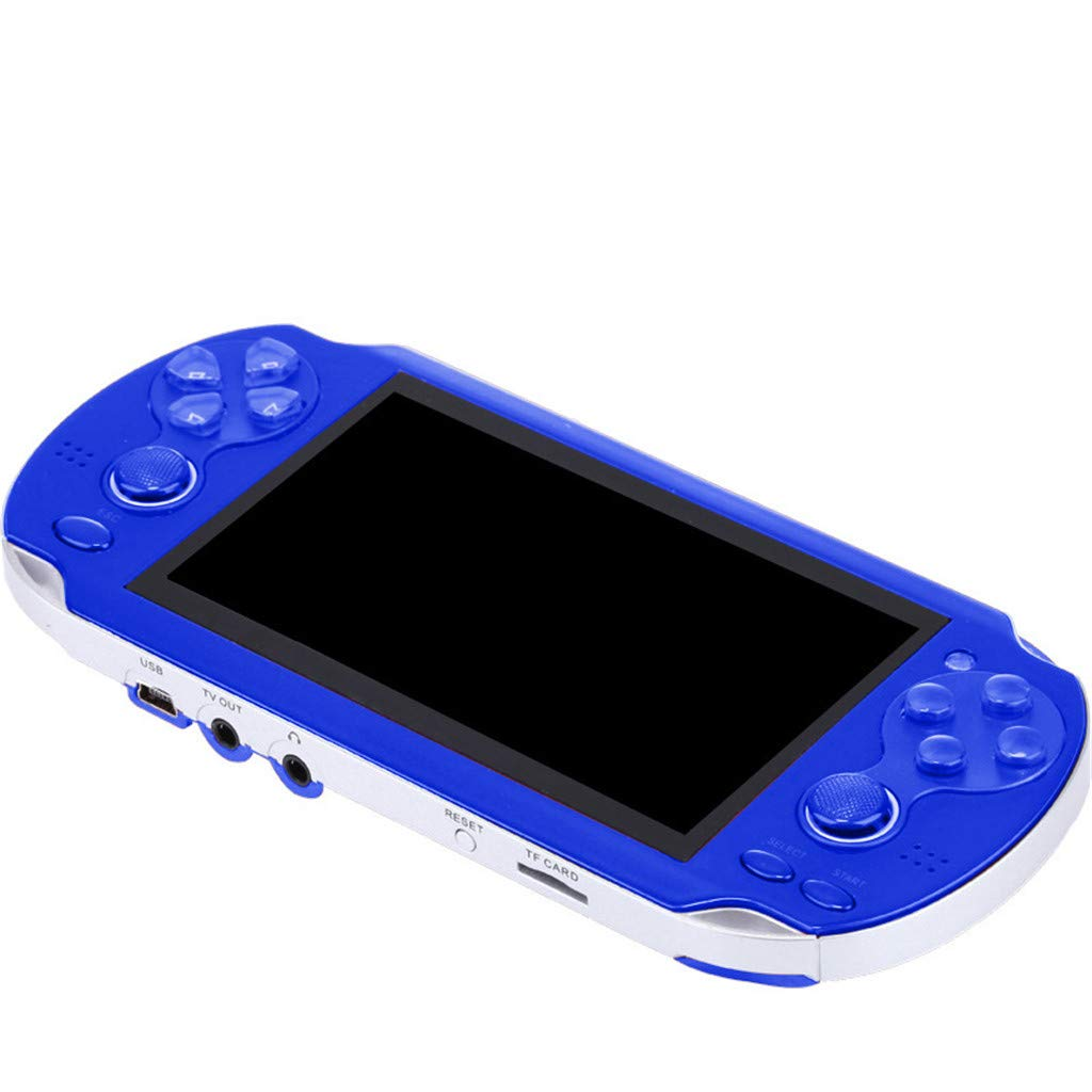 Chercherr X7 Handheld Game Console Kids Adults, Retro Game Console Portable Handheld Game Player Built-in 800 Game joystick, Home Travel Portable Gaming System Childrens Tiny Toys Digital (Blue) by Chercherr (Image #4)