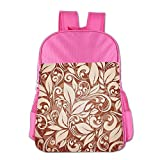 Mokjeiij Artistic Floral Composition Stylized Tangled Elegant Pattern Unisex Girls Boys School Backpack Children's