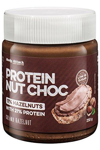 Body Attack Protein Nut Choc, 1er Pack (1x 250g) (Protein Nut Choc Creamy Hazelnut)