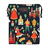 Russian Sights And Folk Drawstring Pouches Candy Jewelry Party Wedding Favor Present Bags 15.75/11.8''''