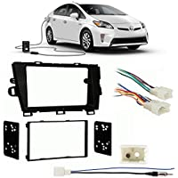 Fits Toyota Prius/Prius Plug-in 2012-2014 Double DIN Harness Radio Dash Kit