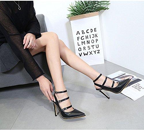 Khskx Chaussures 8 Boucle De La six Des Les 5cm Toutes Talons Sangles Petite Noires Pointues Thirty Bouche Correspondent Ceinture rZrwEdq