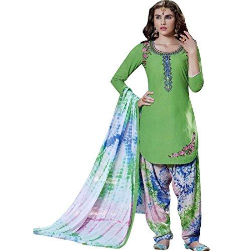 Ladyline Ready To Wear Patiala Salwar Embroidered Cotton Salwar Kameez Suit Indian Dress