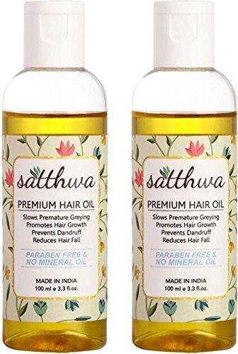 Satthwa Hair Fall Control Oil (Pack of 2) Hair Oil (200 ml)