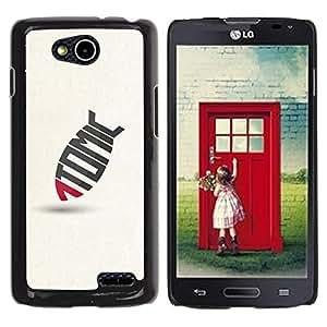 YOYOYO Smartphone Protección Defender Duro Negro Funda Imagen Diseño Carcasa Tapa Case Skin Cover Para LG OPTIMUS L90 D415 - 1 Tomic