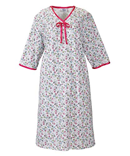 (Womens Adaptive Hospital Gown Open Back Regular & Plus Sizes - Owl Print MED)