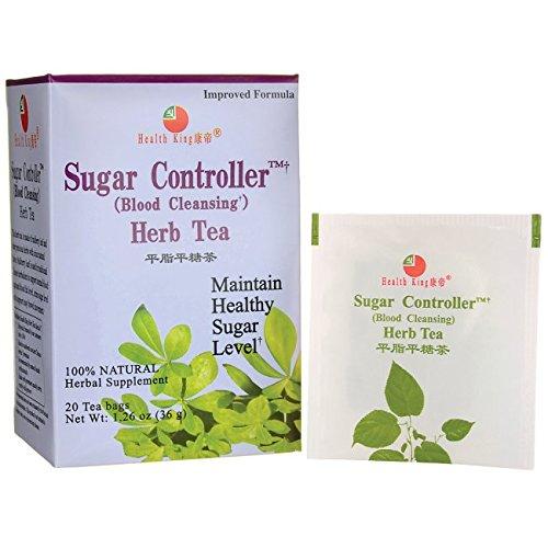 Health King  Sugar Controller Herb Tea, Teabags, 20 Count Box (Sugar Tea Herb Controller)