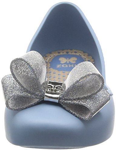 Zaxy Women's Start Glitter Bow Ballet Flats Blue (Sky) O8ged
