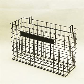 Amazon.com : AUCH Hanging Metal Wire Organizer File Basket/Letter ...