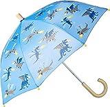 Hatley Kids Men's Fire Breathing Dragons Umbrella Blue/Yellow One Size