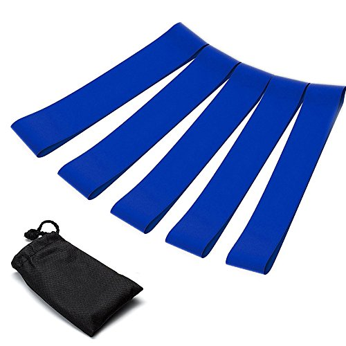 COUPOON Exercise Loop Resistance Bands 5 Pack ,Fitness Worko