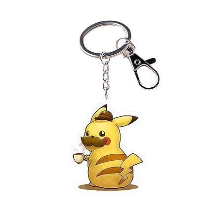 RichyRichy Pokémon Detective Pikachu llavero acrílico figura ...