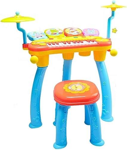 LINGLING-Tambor Infantil Teclado Tambor de Juguete Piano ...