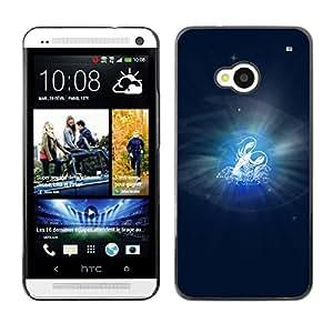 TopCaseStore / la caja del caucho duro de la cubierta de protección de la piel - Cancer Zodiac Sign - HTC One M7