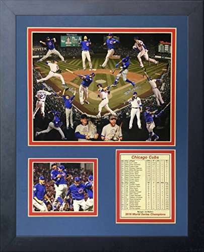 (Legends Never Die 2016 MLB Chicago Cubs World Series Champions Collage Framed Photo Collage, 11