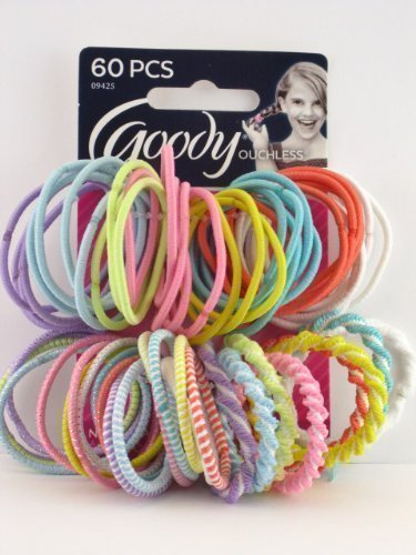 Goody Girls Ouchless Mixed Pattern Pastel Elastics 60 Count