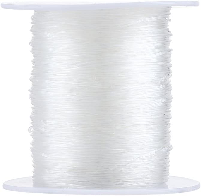 100m Spool Crystal Translucent Elastic Thread Beading String Cord Wire Wholes...