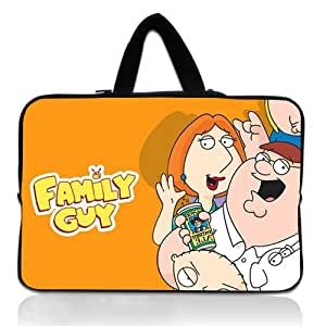 Brinchs Handmadecraft Cute Cartoon 12 12.5 Inch Laptop Handbag with Family Guy Waterproof Canvas Fabric Laptop / Notebook / MacBook / Ultrabook Computers(Twin Sides)