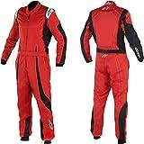 Alpinestars 3356017-312-50 K-MX 9 Suit, Red/Black/White, Size 50, CIK FIA Level 2, 3-Layer