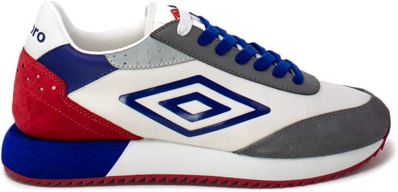 Umbro Sneakers Uomo 43 Bianco//blu//Rosso U191902m-m Primavera Estate 2019