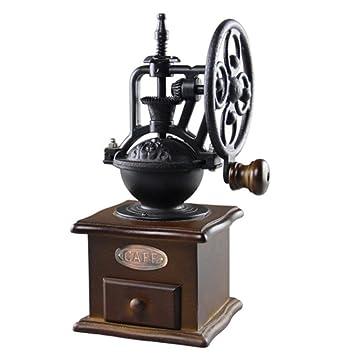 FBDF Máquina de molienda de Molino de Grano de café de Molino de Grano de café de diseño Manual Vintage: Amazon.es: Hogar