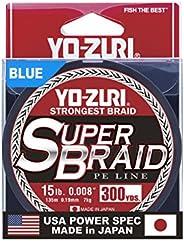 Yo-Zuri Superbraid 300 yd Floating Braid, Blue, 15 lb