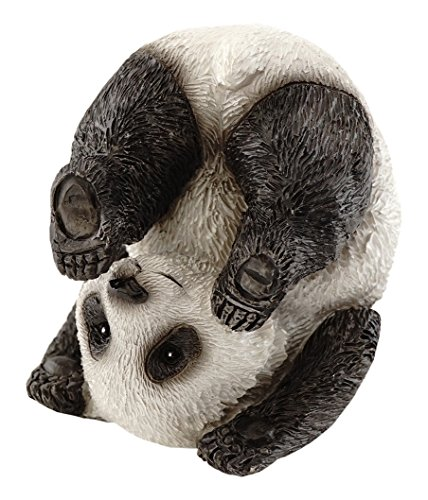 Top Collection Miniature Fairy Garden and Terrarium Cute Yoga Panda-Plow Pose Figurine