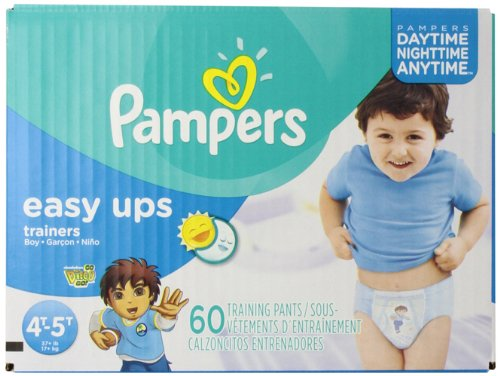 Pampers Boys Easy Ups Training Underwear 4T-5T (Size 6), 60 Count (Old Version)