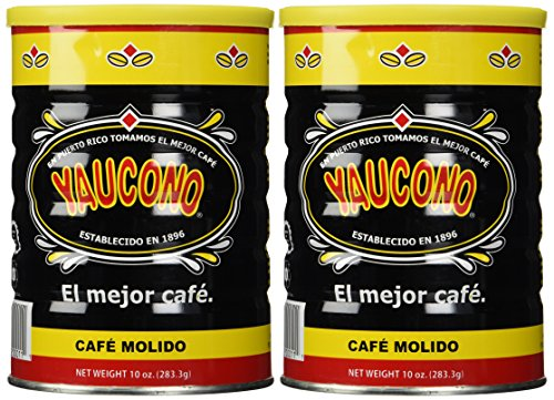 Cafe Yaucono Ground Coffee 10oz Can - Pack 2