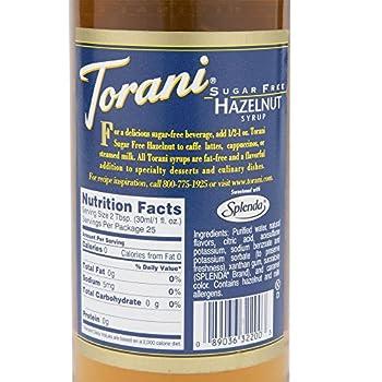 Torani Syrup, Sugar Free Classic Hazelnut, 25.4 Oz 6