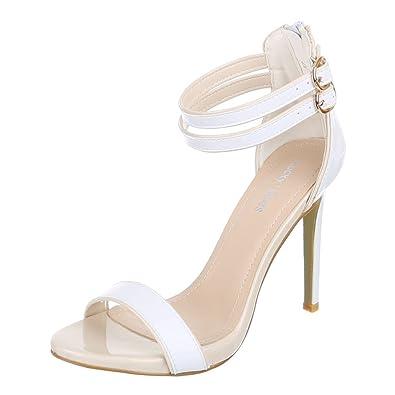 Ital-Design Damen Schuhe B-35 Pumps High Heels Sandaletten