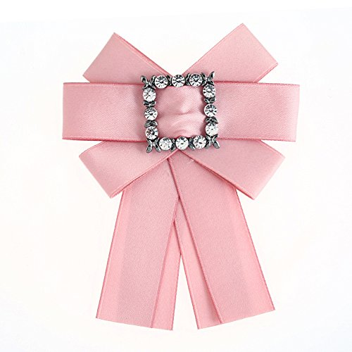 Wantschun Women Satin Crystal Pearl Ribbon
