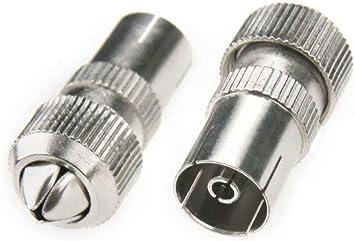 10 conectores de cable coaxial para antena de televisión (5 ...