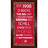 MLB Arizona Diamondbacks Subway Sign Wall Art with Authentic Dirt from Chase Field, 16x32-Inch