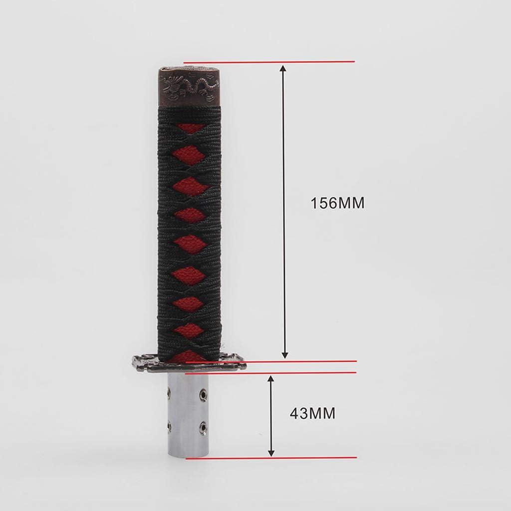 Xuniu Universal Auto Schaltknauf Katana Metal Weighted Sport Shifter 4 Adapter Schwarz