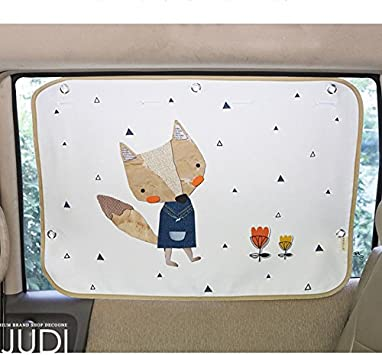 Car Sunshade Protector Sun Blocker Blind Pink Picnic Car Sun Shade Curtain for Side Window for Baby Kids Children