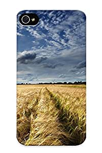 Brand New 4/4s Defender Case For Iphone (field Clouds Wheat Grass Sky Clouds Landscape )