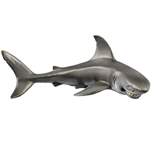 1 Pcs Smile Shark Figurines Aquarium Decor, Sealife Replica Aquarium Ornament with Cunning Smile Thrilling Fish Tank Landscape Wild Decoration Accessories