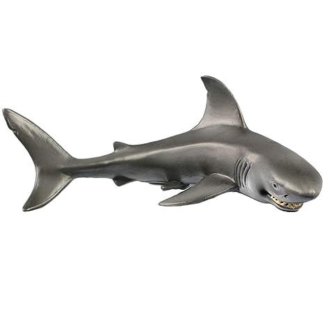 1 Pieza de Figuras de tiburón Sonriente para decoración de Acuario, réplica de Vida Marina