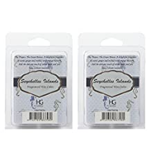 Hosley's Set of 2 Ocean Carribean Breeze Seychelles Island scent Wax Cubes / Melts - 2.5 oz each. Hand poured wax infused with essential oils. Ideal GIFT for weddings, spa, Reiki, Meditation settings