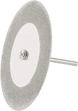 Dandelionsky legno metallo pietra 16//20//22//25//30//40//50//60 mm con 4 mandrini per resina Kit di 32 dischi diamantati 8 dimensioni