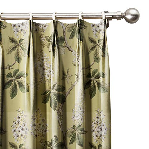 Alesandra Window Panel (ChadMade Floral Botanical Print Cotton Curtains 72