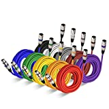 25 Ft XLR Patch Cable Audio Cords-EBXYA 25ft 10 Colored Pack